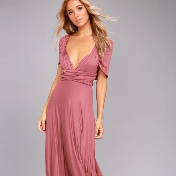 15804e99ded Lulu s Dresses   Skirts - LULUS TRICKS OF THE TRADE RUSTY ROSE MAXI DRESS